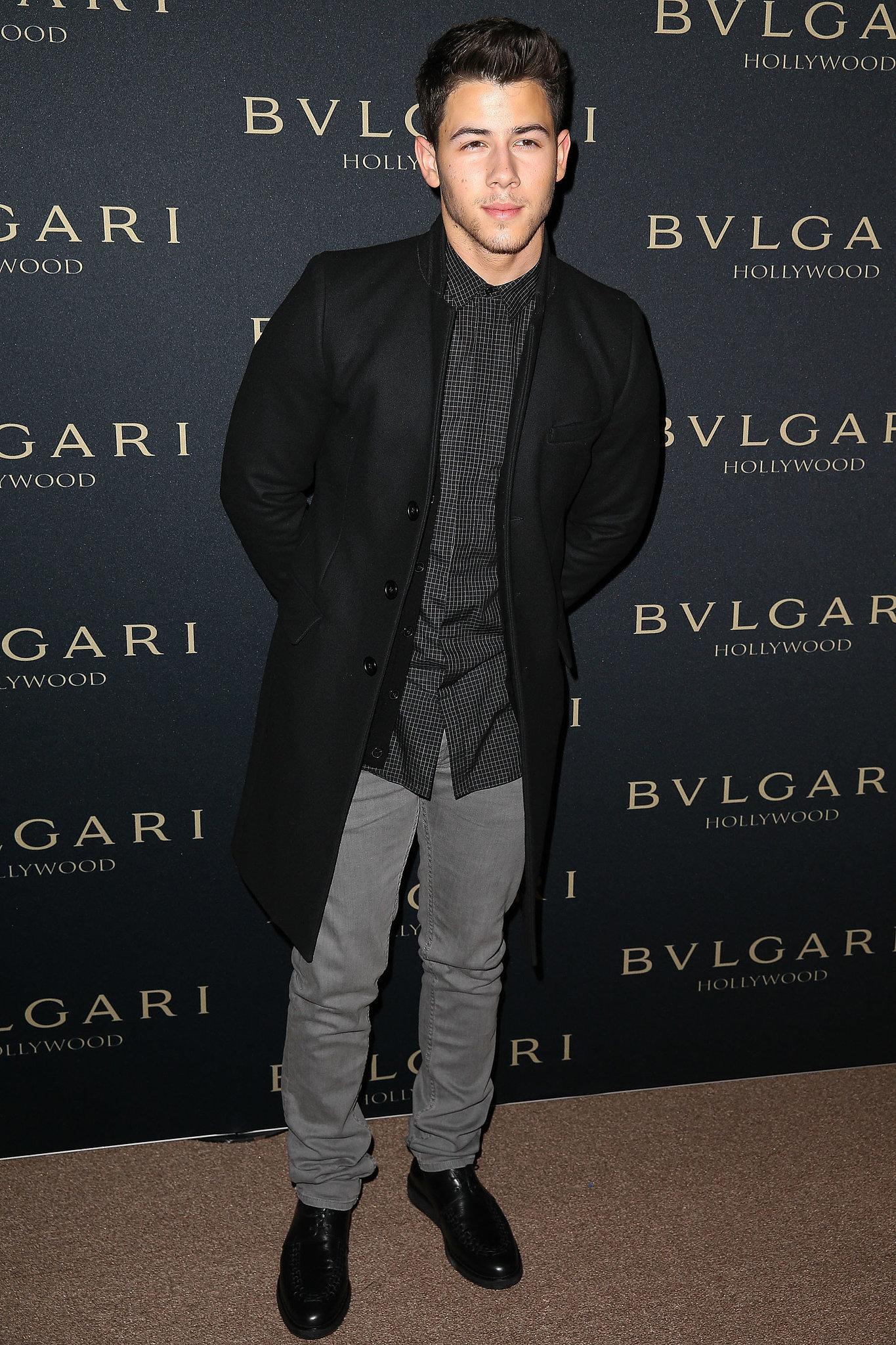 Nick Jonas at the Bulgari Decades of Glamour Oscar Party
