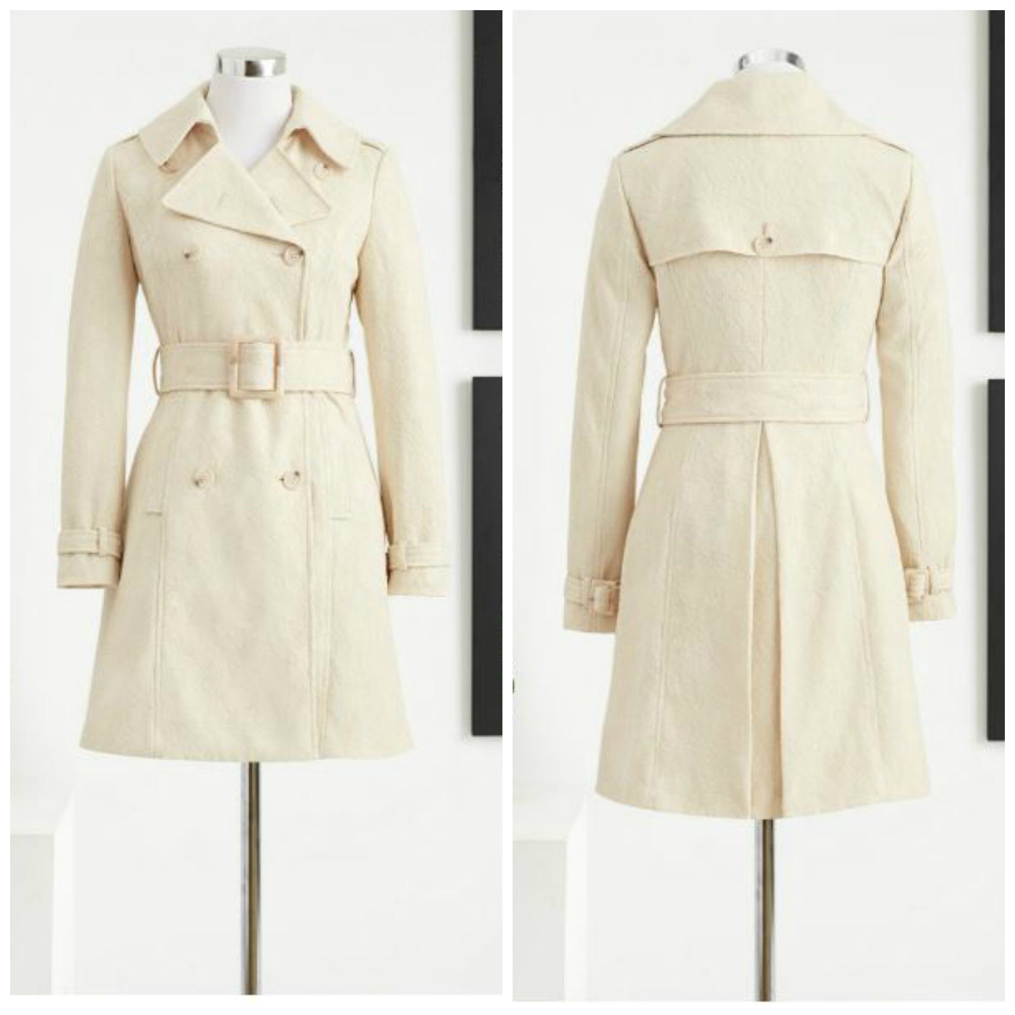 New York & Company Eva Mendes Collection Kelsey Lace Trench Coat