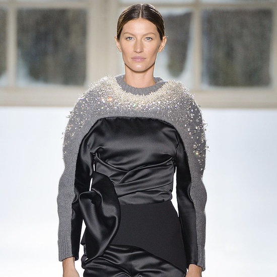 Gisele Bundchen Walks in Balenciaga 2014 Paris Fashion Week