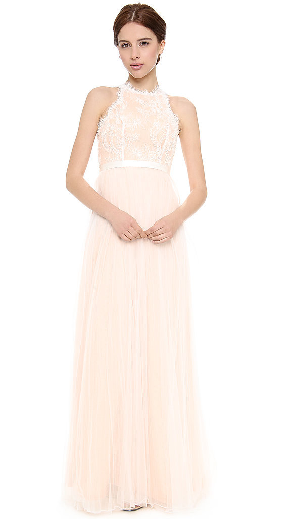 Love, Yu Fancy Pink Lace Gown ($1,850)