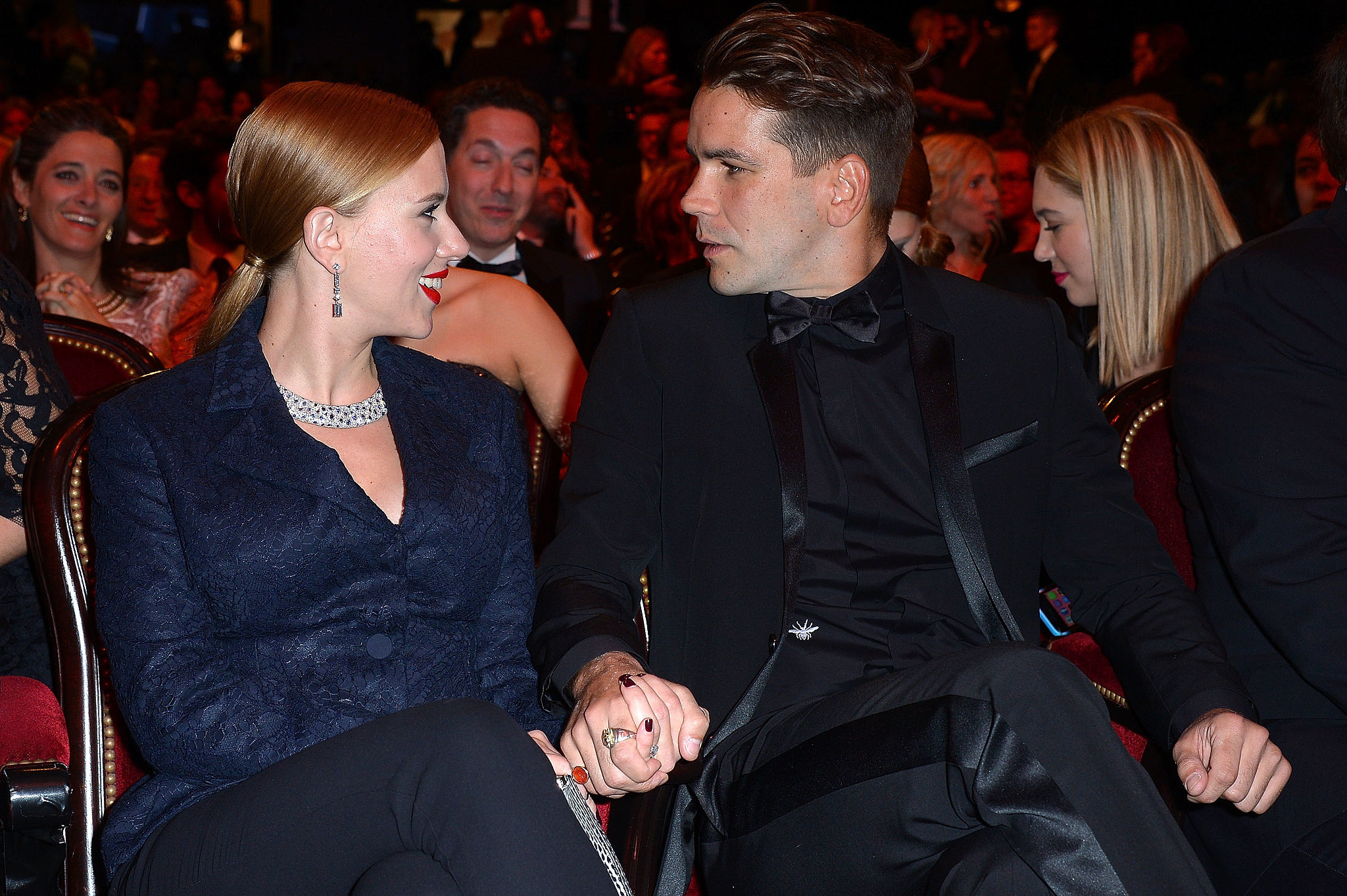 Scarlett Shows Off Her Giant Ring and Gorgeous Guy