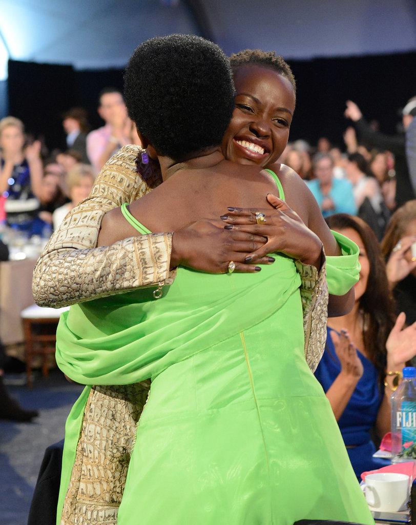 Lupita Nyong'o Gets Big Hugs After Her Big Day