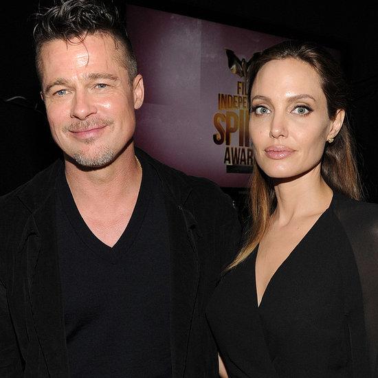 Brad Pitt and Angelina Jolie at the Spirit Awards 2014