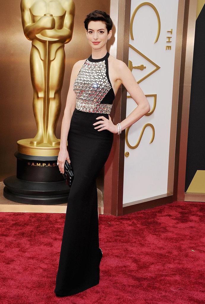 Anne Hathaway at the Oscars 2014   POPSUGAR Celebrity