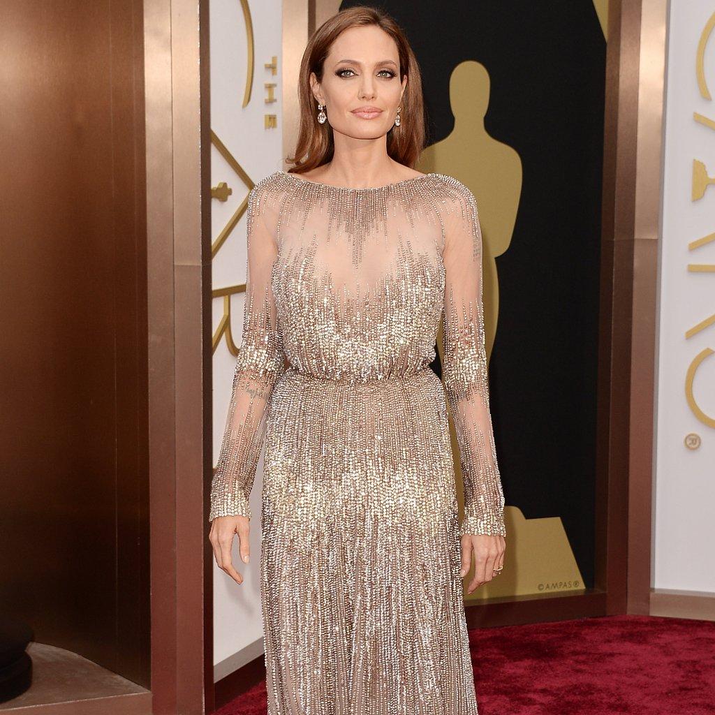 Angelina Jolie Elie Saab Dress at Oscars 2014
