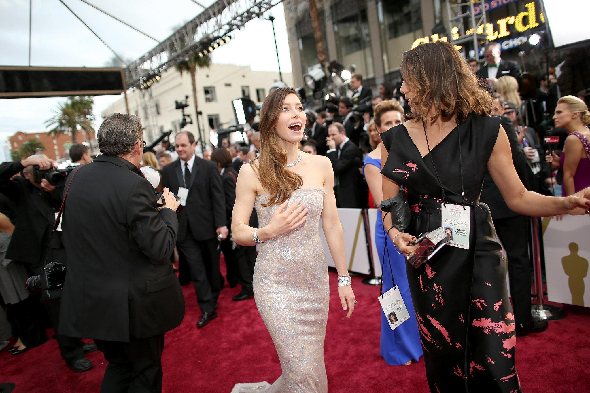 Jessica Biel at the 2014 Oscars.