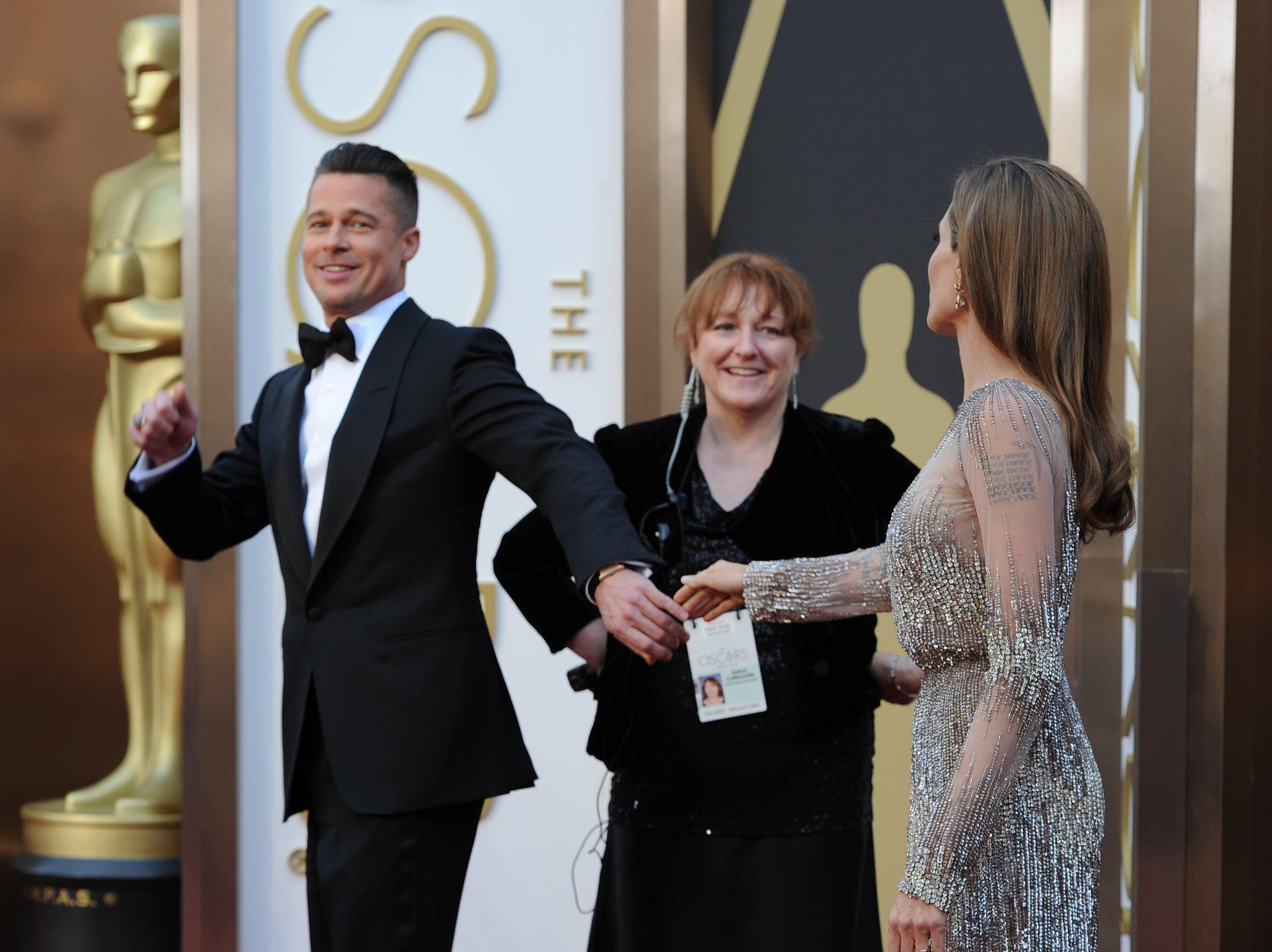 Brad Pitt and Angelina Jolie at the 2014 Oscars.