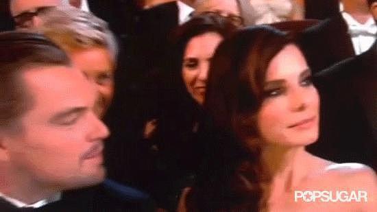 Ellen Popped up Between Sandra and Leo