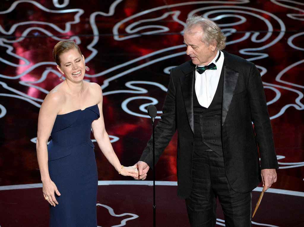 Amy Adams laughed while presenting alongside Bill Murray.