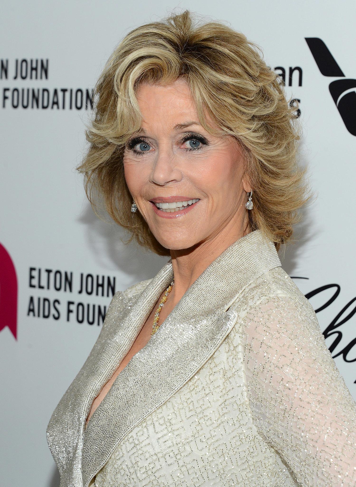 Jane Fonda at Elton John Party