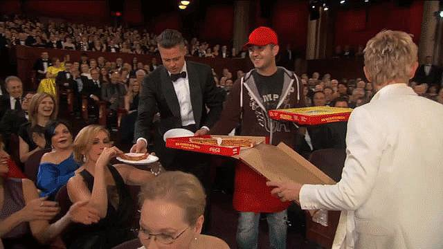 Everyone Stopped the Show to Get Pizza