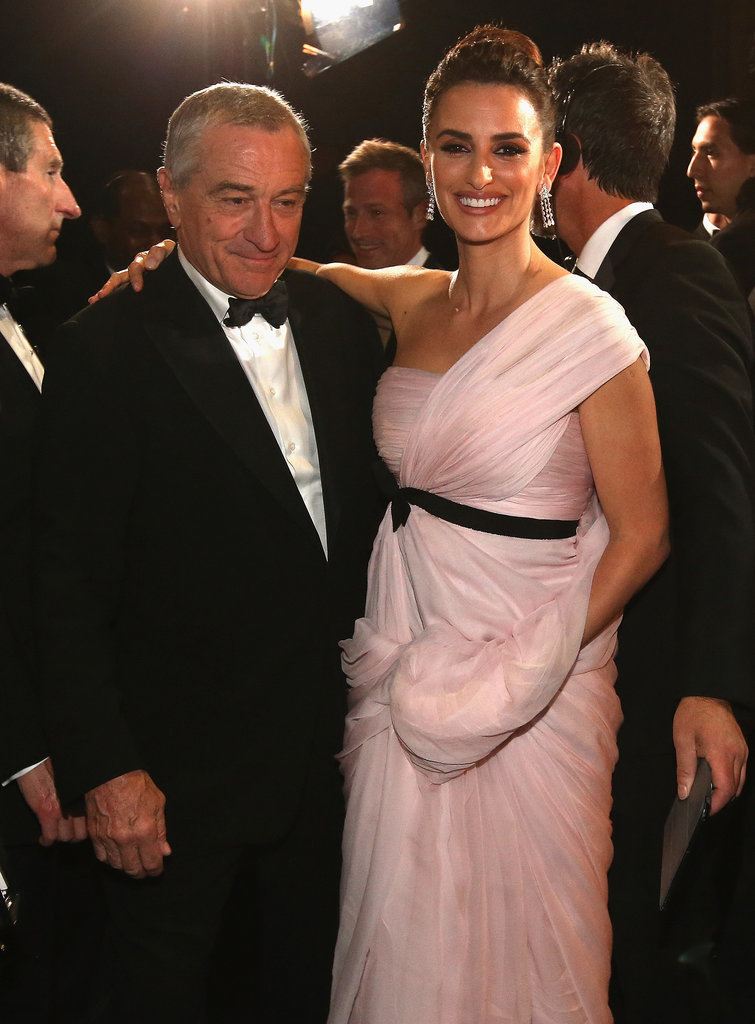 Robert De Niro linked up with Penélope Cruz at the show.