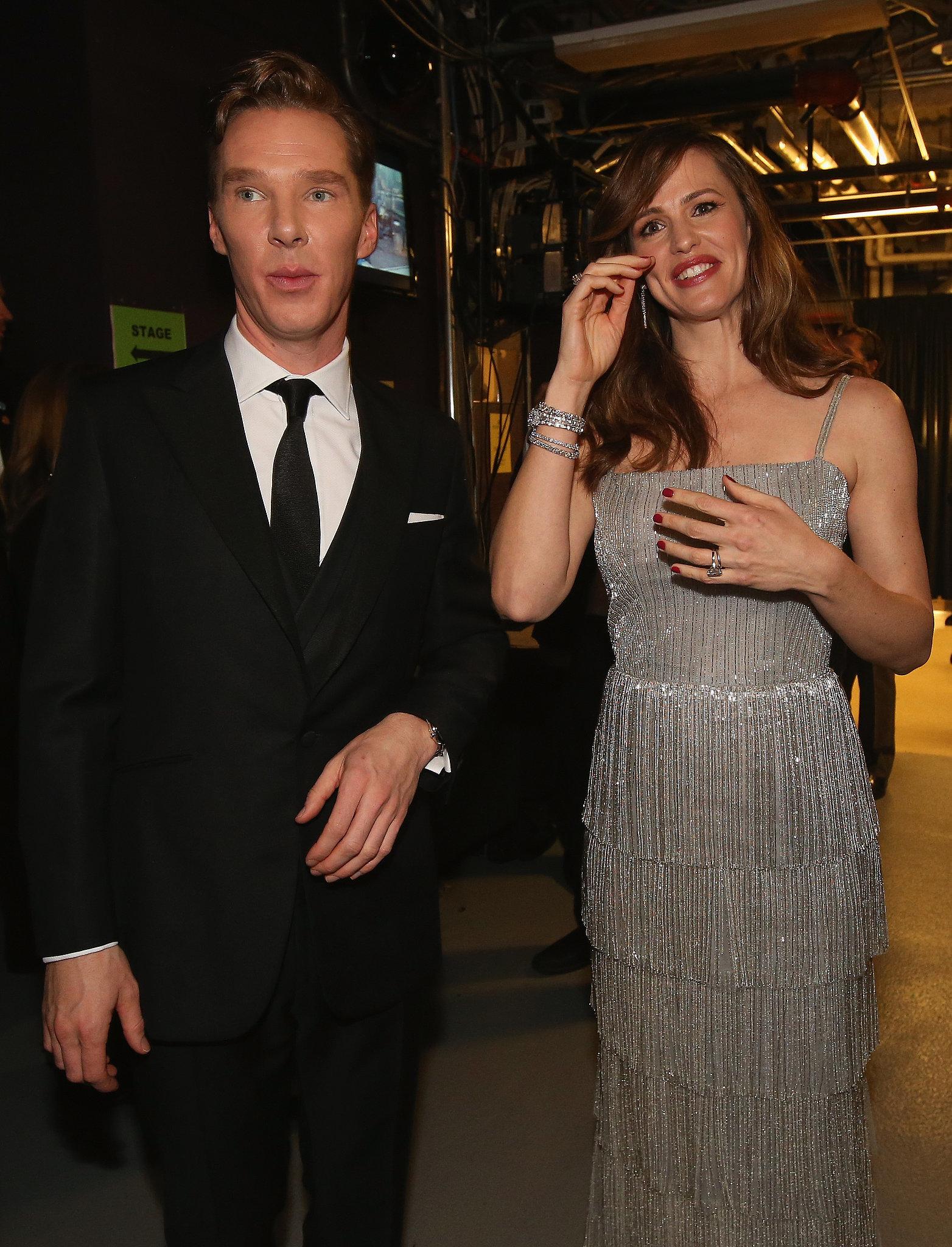 Benedict Cumberbatch and Jennifer Garner linked up backstage.