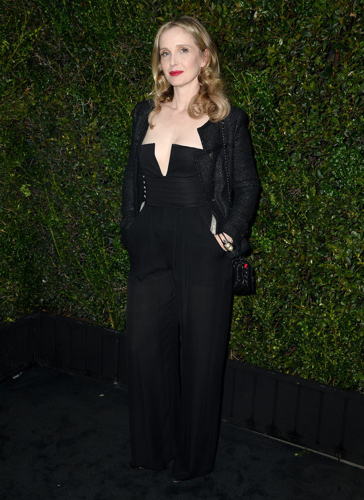Julie Delpy also went for a black ensemble.