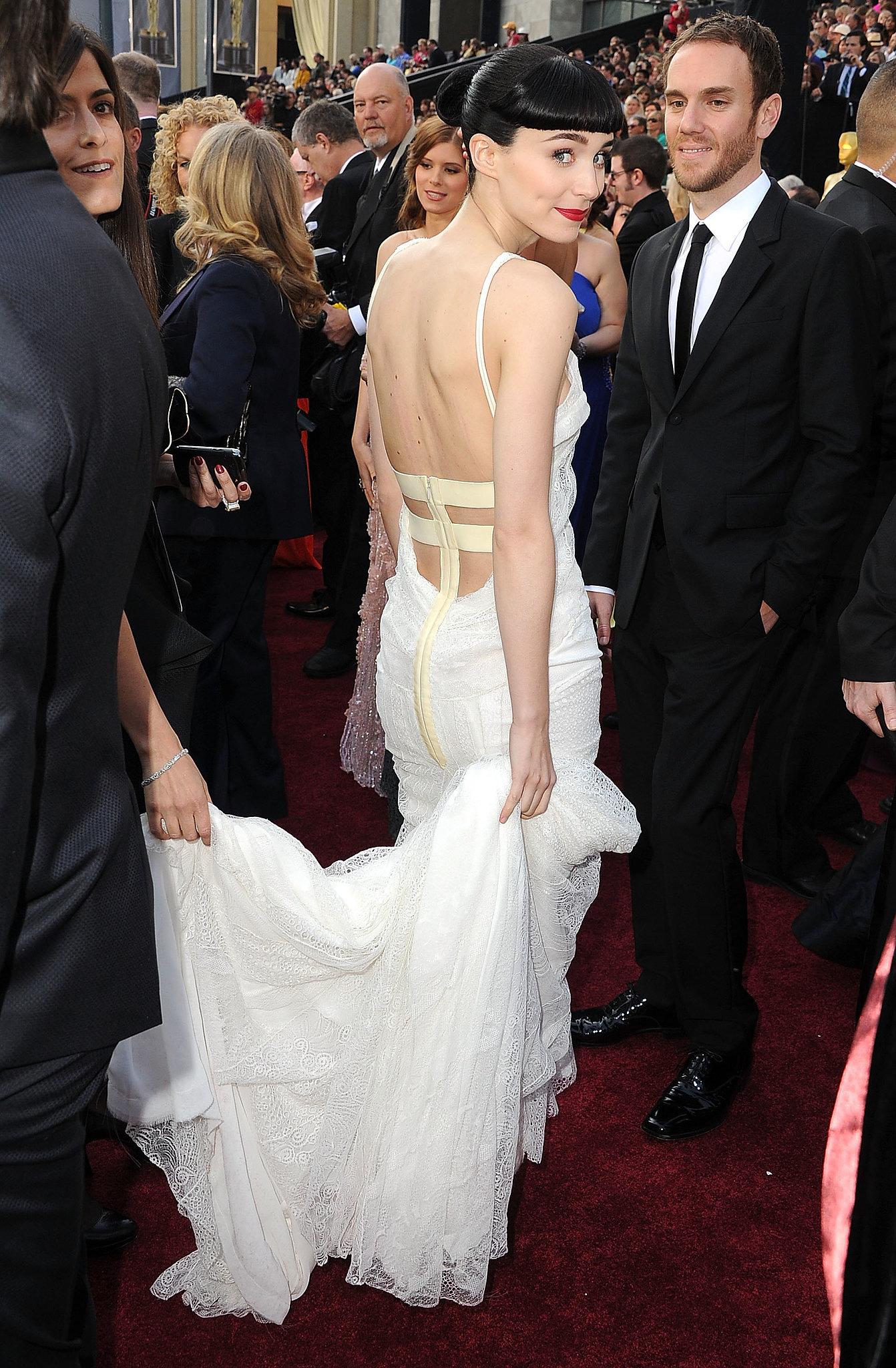 Rooney Mara in Givenchy at the 2012 Oscars