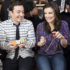 """Jimmy Fallon and Idina Menzel Do """"Let It Go"""" With Classroom Instruments"""