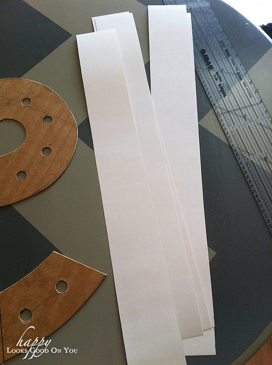 cut poster board into strips 3 1/2 inches wide for the sides of the ...