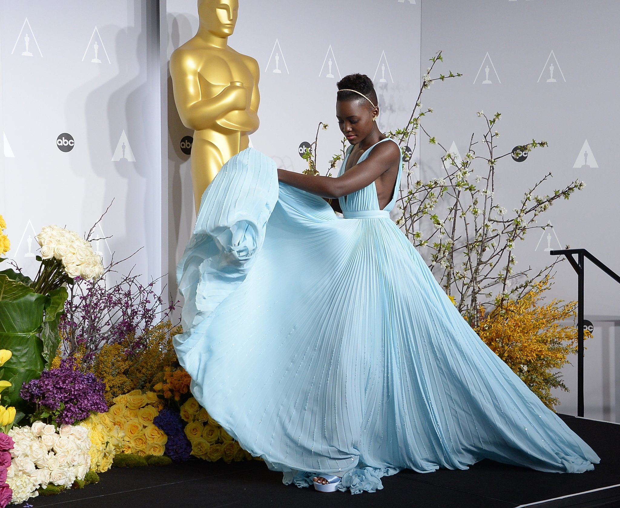 Nyong'o showed off her gorgeous dress.