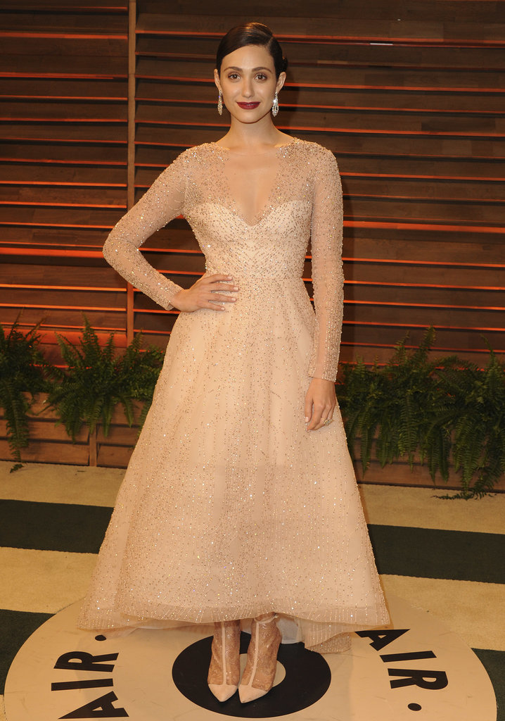 Emmy Rossum was coordinated from head to toe.