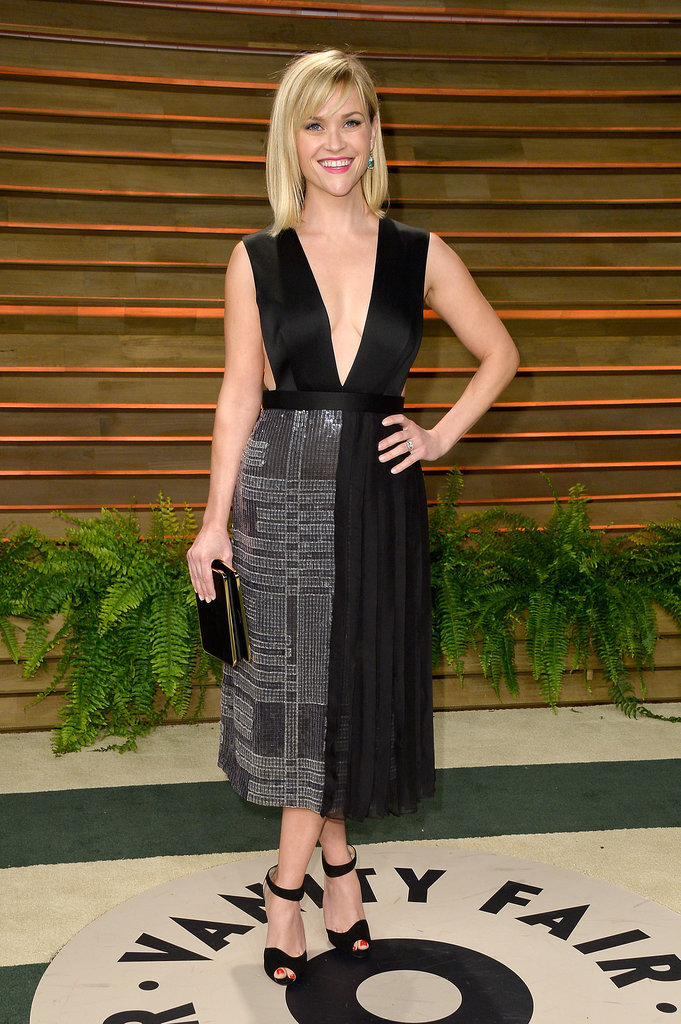 Reese Witherspoon showed off a plunging neckline.