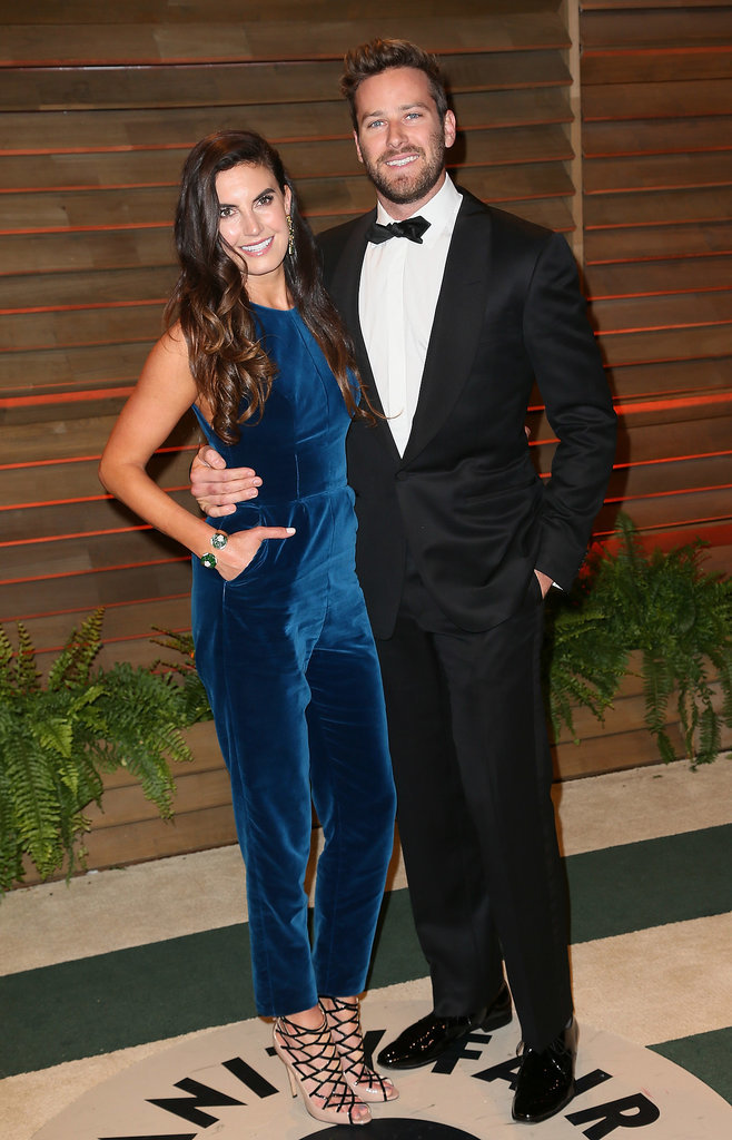 Armie Hammer and Elizabeth Chambers smiled for the cameras together.