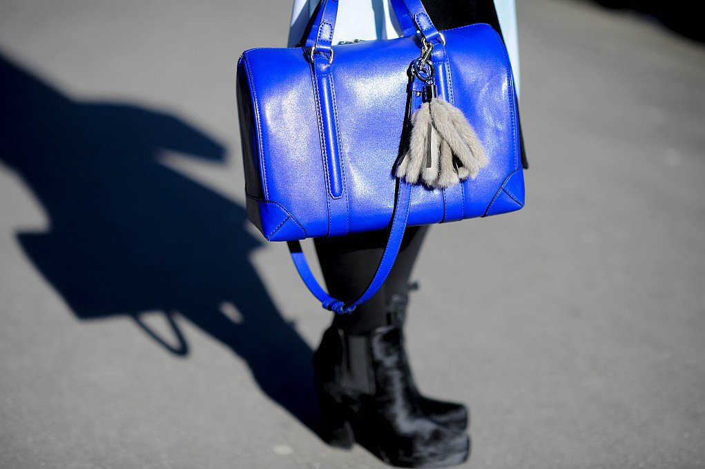 This little bag packs a serious color punch.  Source: Gorunway.com/Matteo Catena