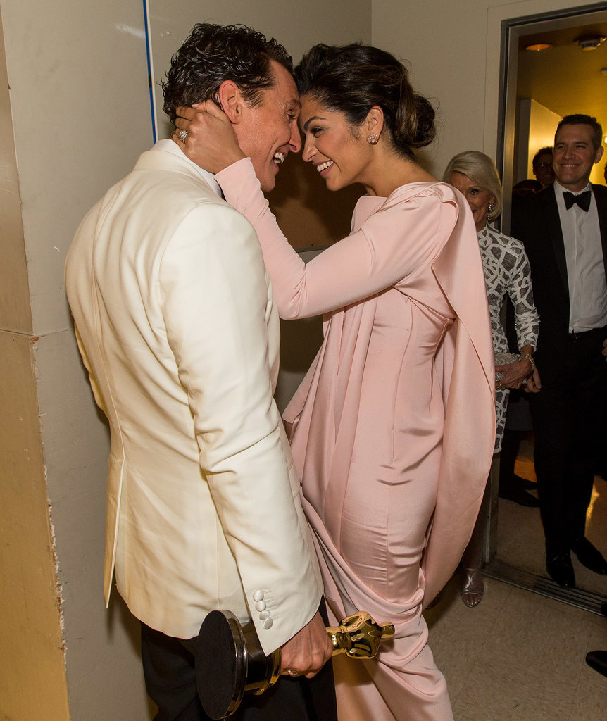 In one of the sweetest couple moments of the night, Camila Alves congratulated Matthew McConaughey on his big best actor win backstage.
