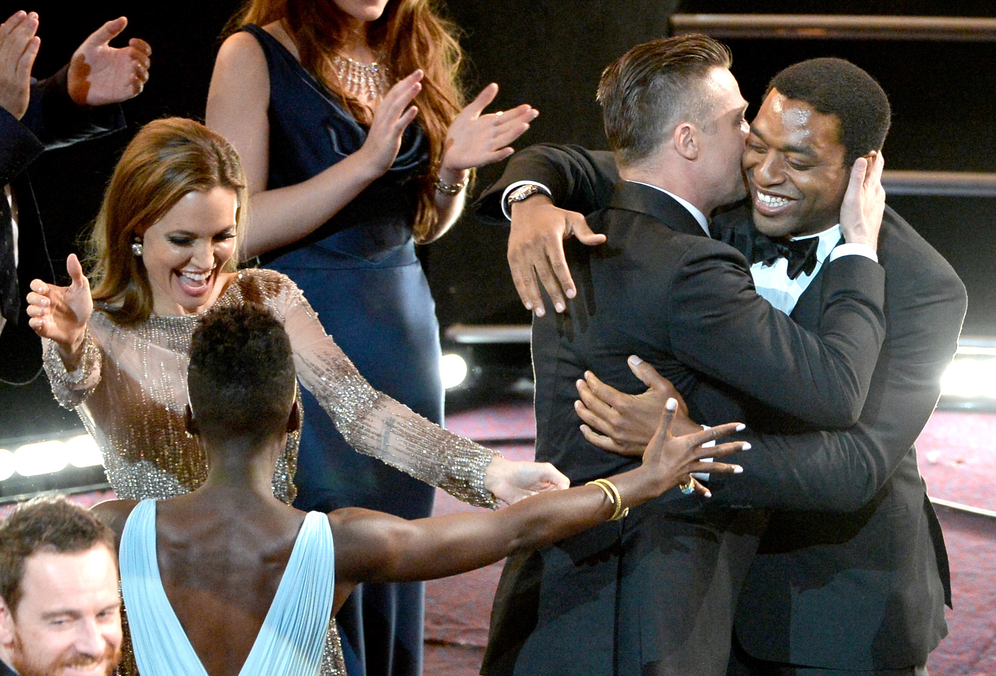 Angelina Jolie, Brad Pitt, Lupita Nyong'o, and Chiwetel Ejiofor couldn't contain their exciteme