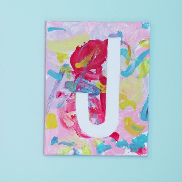 Canvas art projects for kids popsugar moms for Canvas art ideas for kids