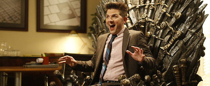 Watch Adam Scott Freak Out Over His New Game of Thrones Throne