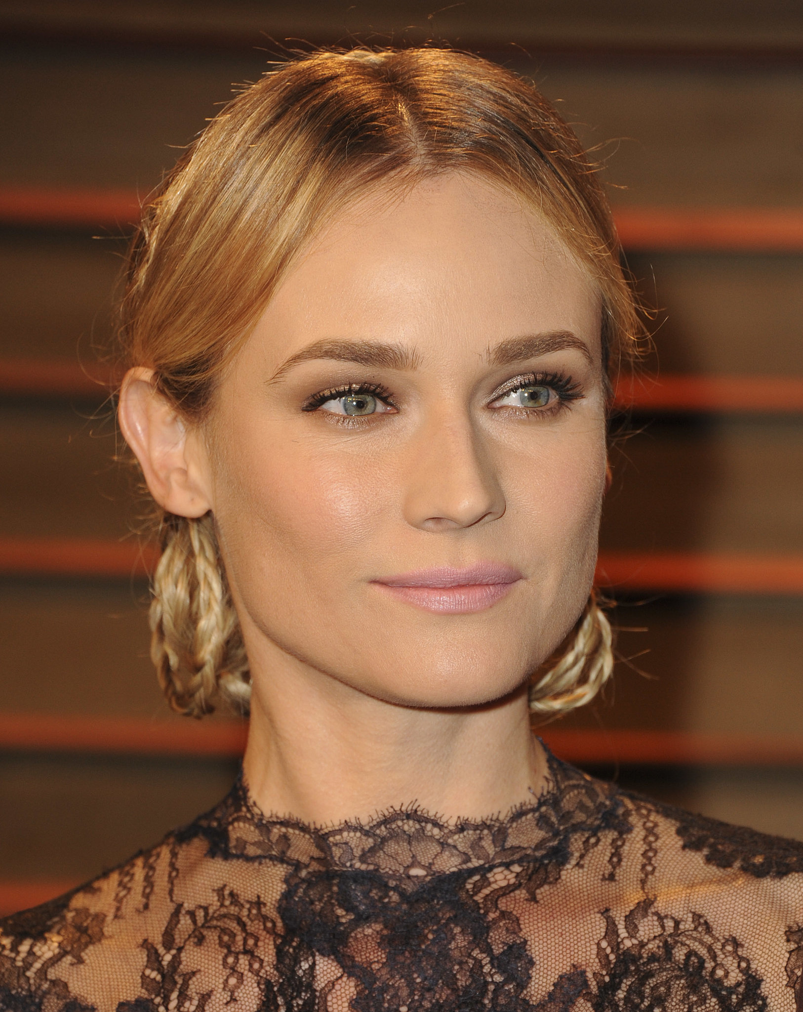 Diane Kruger's Braided 'Do From the Front