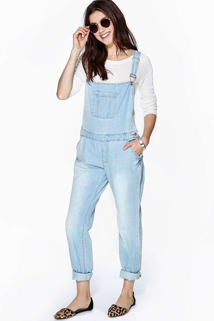 "Nasty Gal light denim ""Weekend"" overalls ($78)"