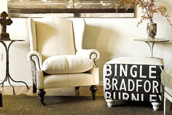 Order a piece of custom typography furniture from British Route Sign Designs for some eclectic decor that would add a statement to any living room.