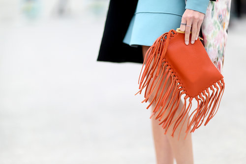 Count it — another fringed bag.