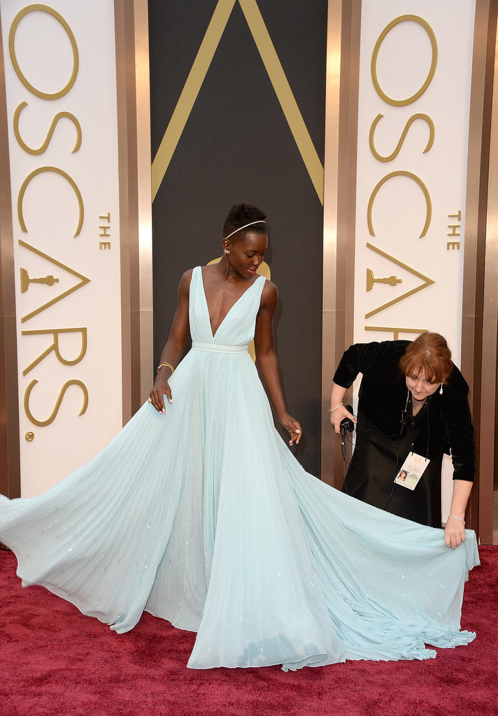 Lupita Nyong'o in Prada at the 2014 Oscars