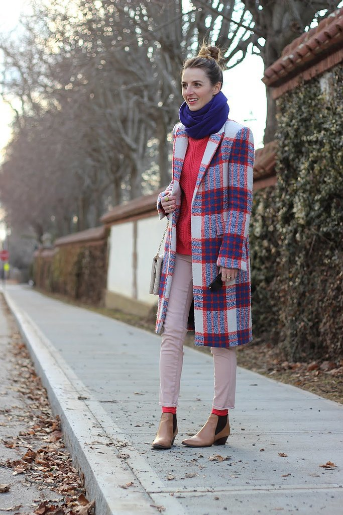 Congrats, Jess Ann Kirby! We can't get over that perfect plaid coat.