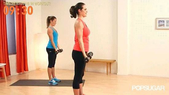 Bicep Curl With Overhead Press