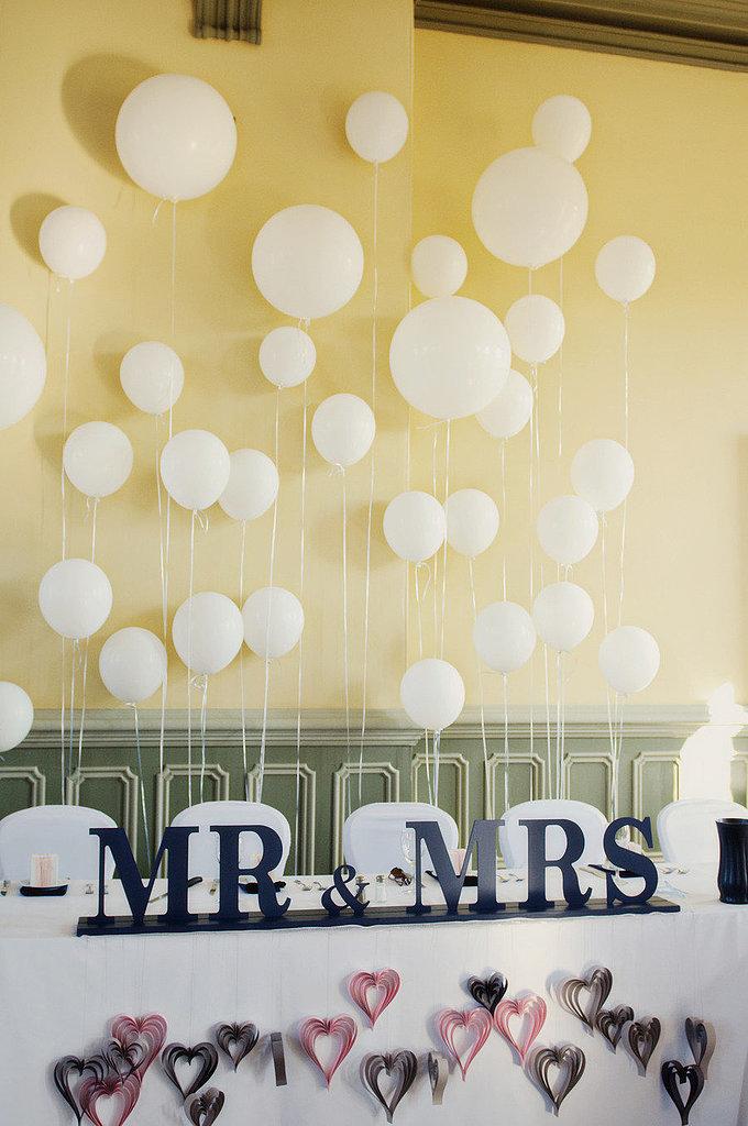 Create a Balloon Wall Behind the VIP Seating