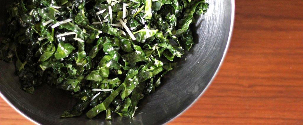 Addictive, Easy, Eggless Kale Caesar Salad