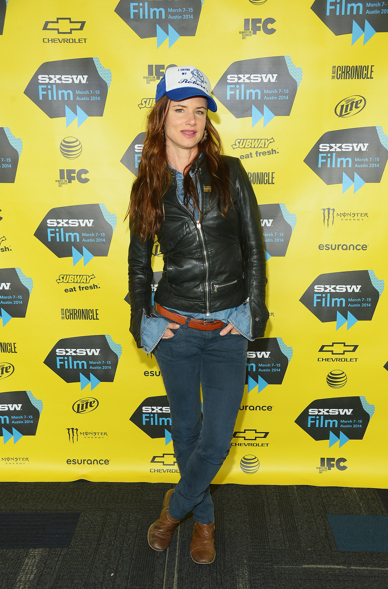 Juliette Lewis donned her leather jacket for the Hellion premiere