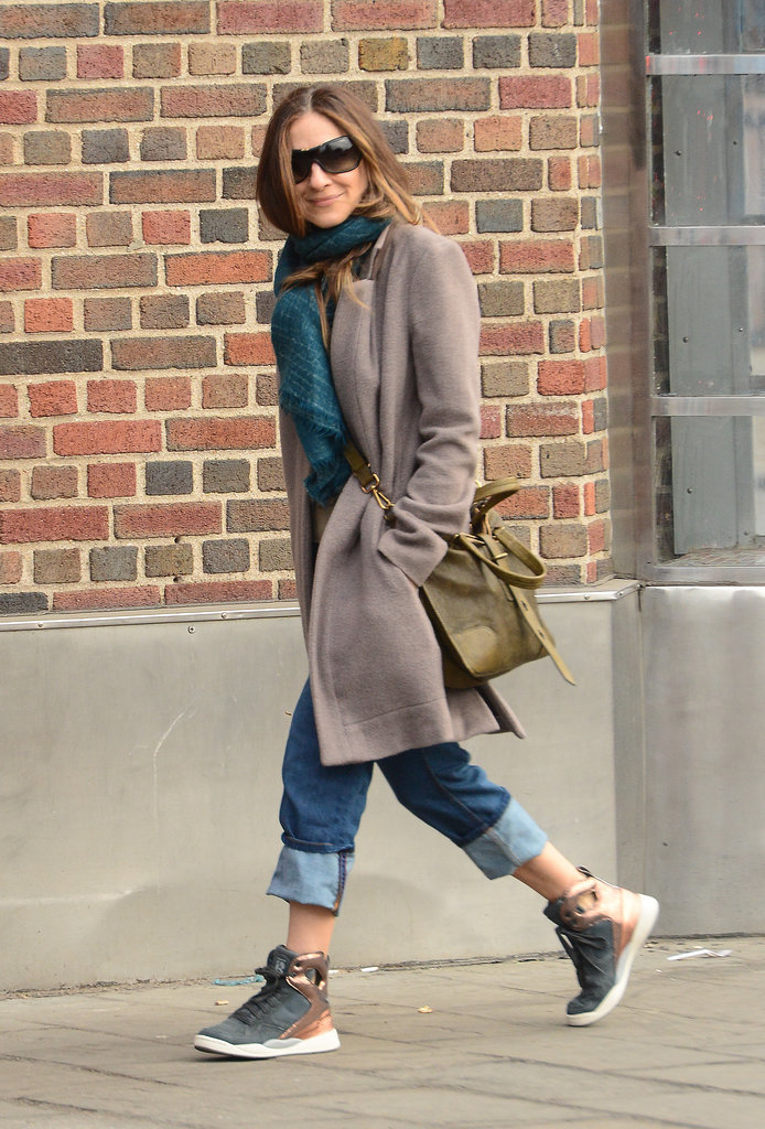 Sarah Jessica Parker took a walk in NYC on Monday while wearing Level 99 jeans.