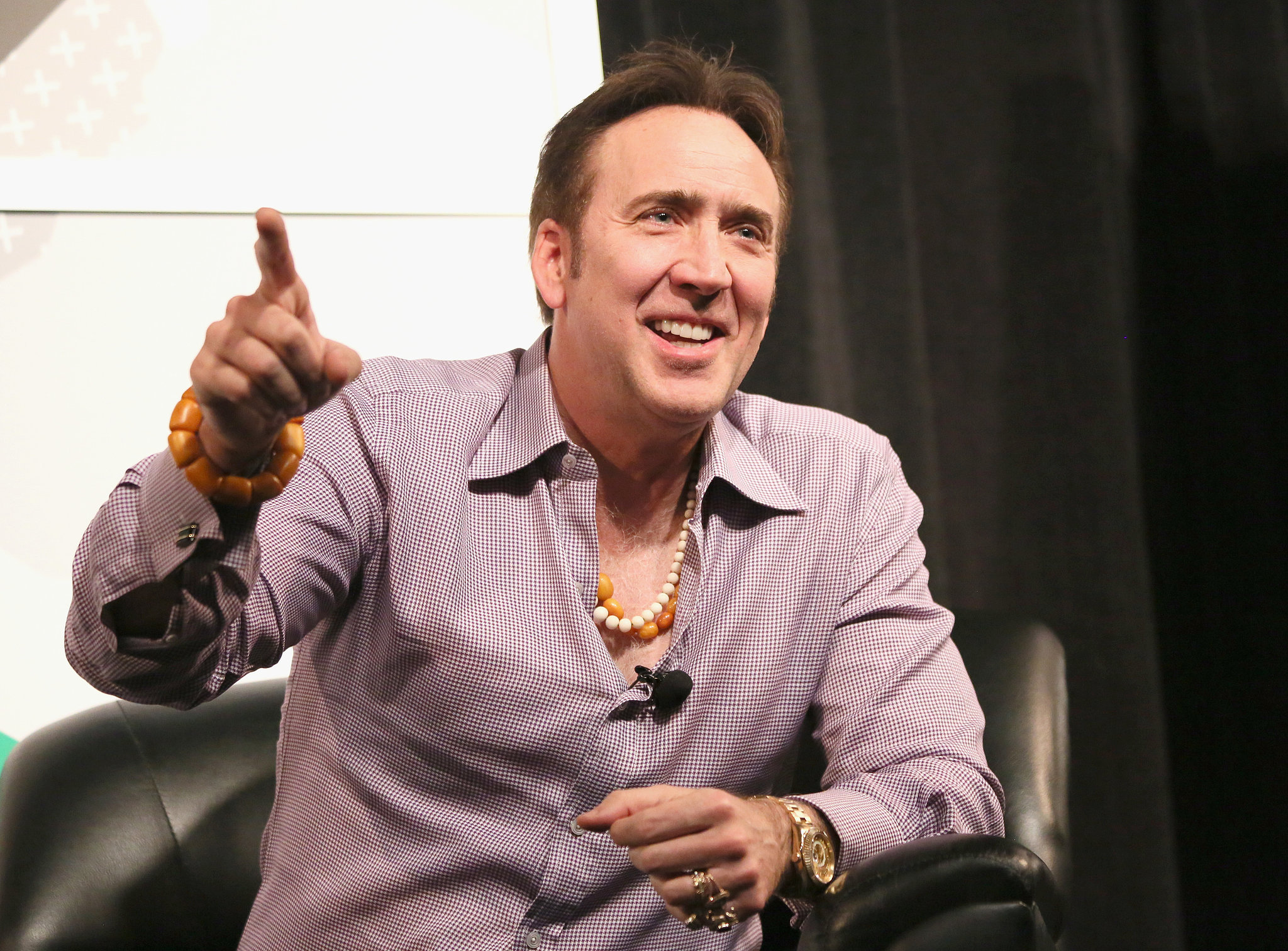 On Monday, Nicolas Cage got animated on stage.