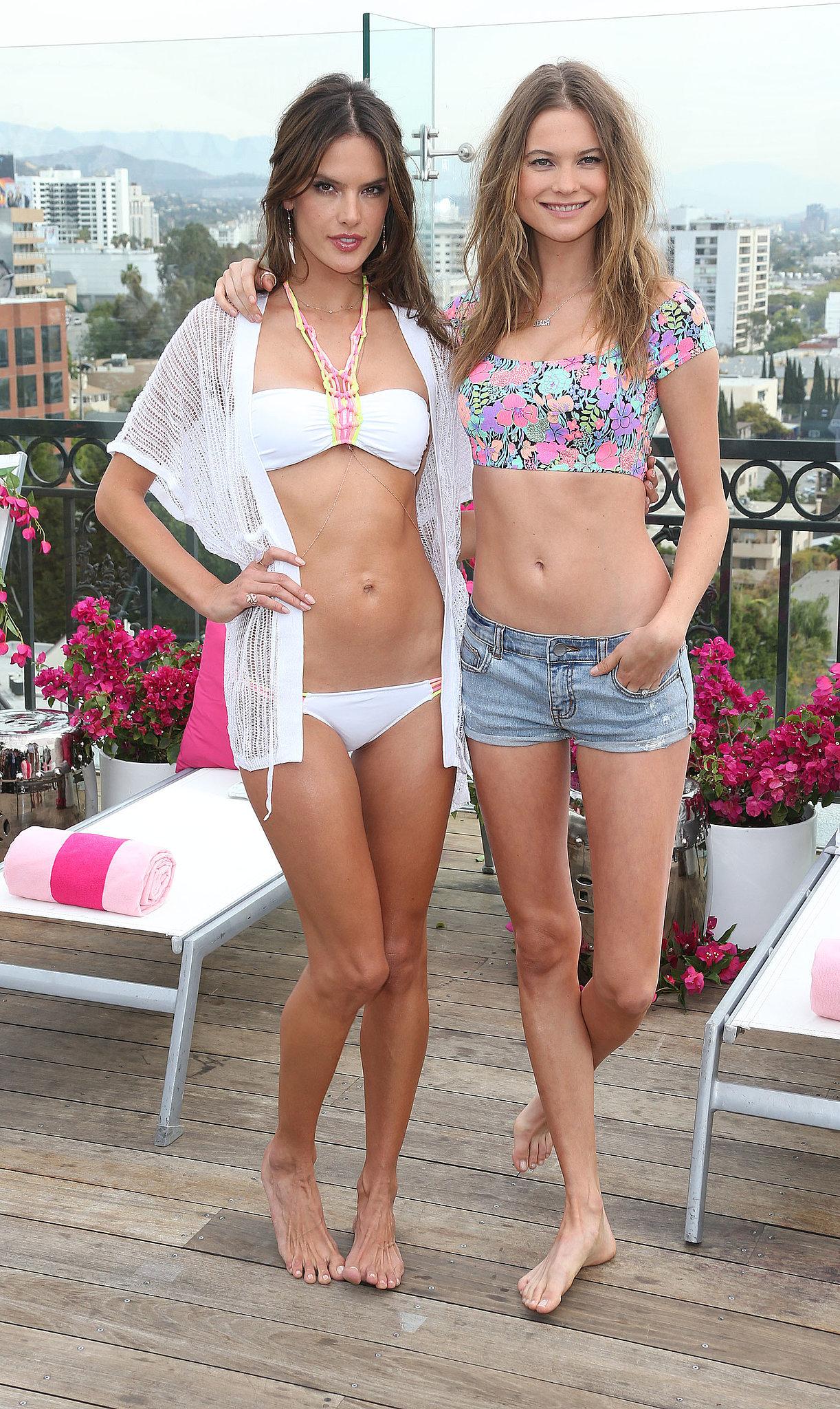 Alessandra Ambrosio and Behati Prinsloo