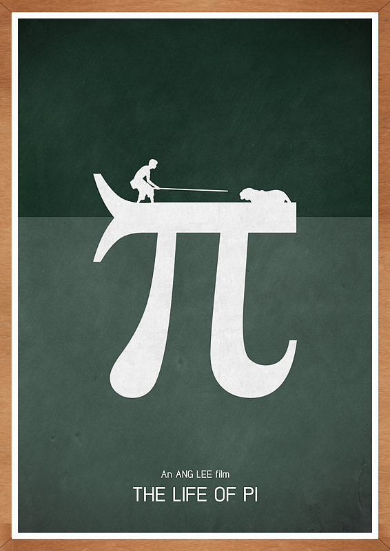 Love this poster's ($14-$21) fun take on the move Life of Pi.