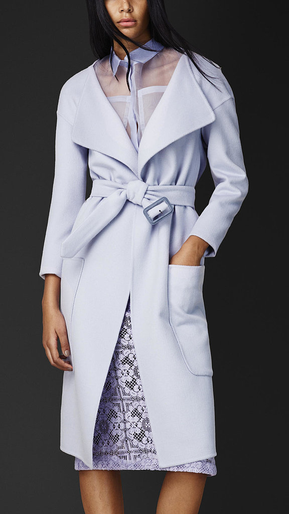 Burberry lavender angora-and-wool belted coat ($2,595)