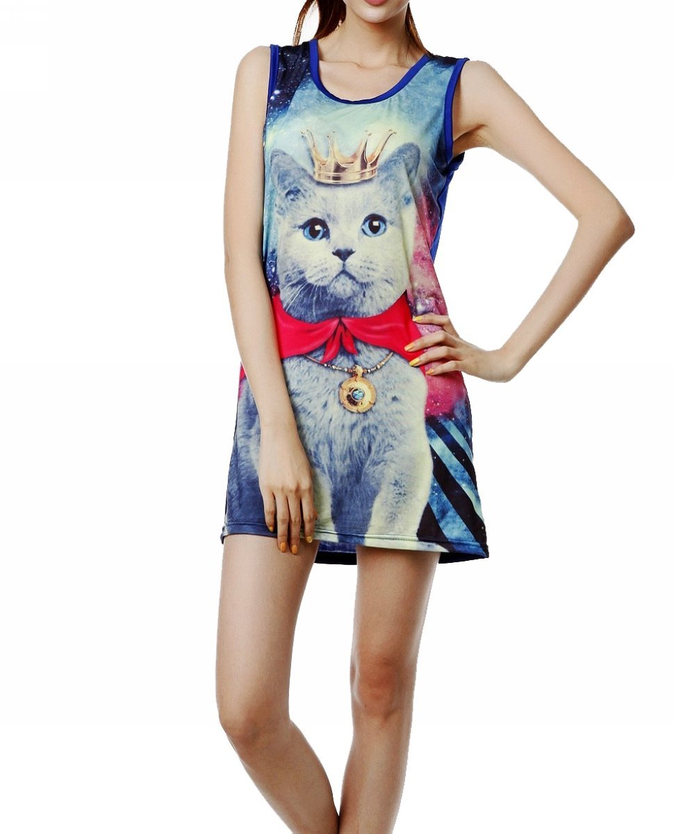 A cat . . . in the galaxy . . . that's a prince? This cat dress ($9, originally $20) is everything.