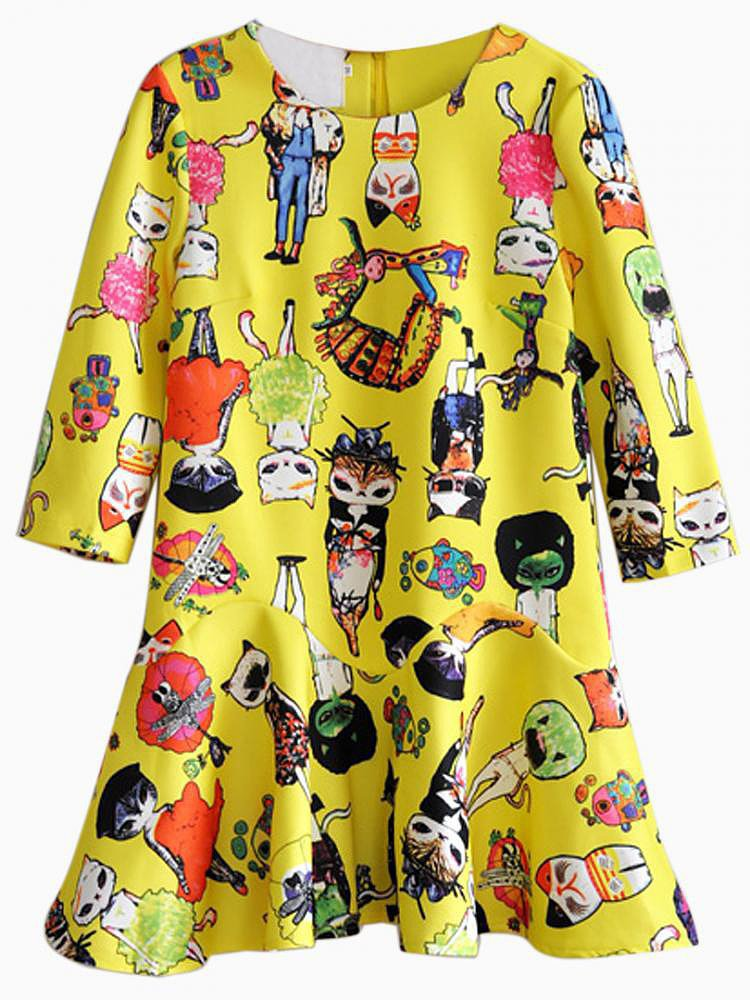 Maybe the only thing better than this bright, fun, cat character dress ($48, originally $53) is that it comes in pink, too.