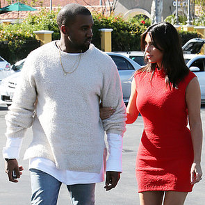 Kim Kardashian and Kanye West See a Movie Together   Photos