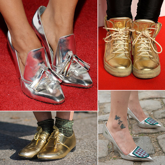 The Best Metallic Shoes: Trainers, Heels, and Flats