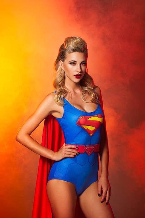 Superman Cape Suit  Source: Facebook user Black Milk Clothing